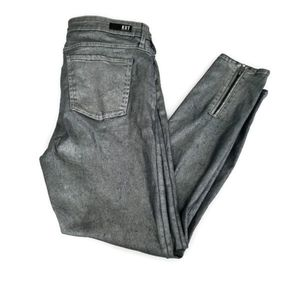 Kut From The Kloth Skinny Metallic Silver Jeans